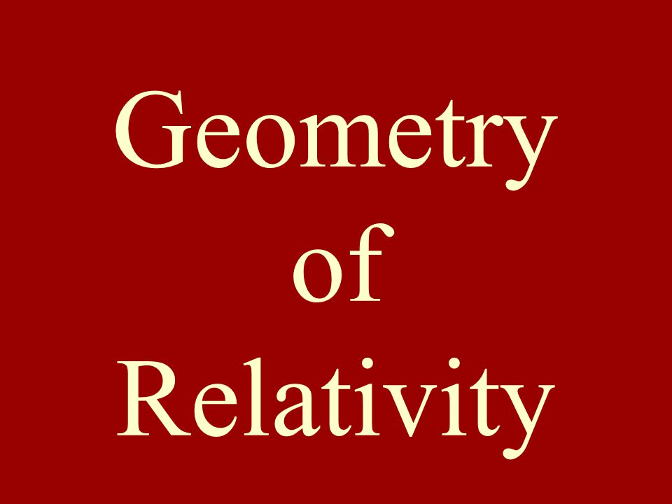 Geometry of Relativity