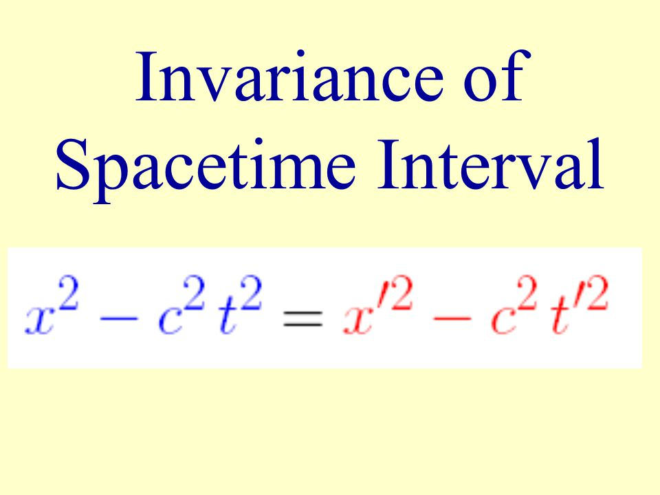 Invariance of Spacetime Interval