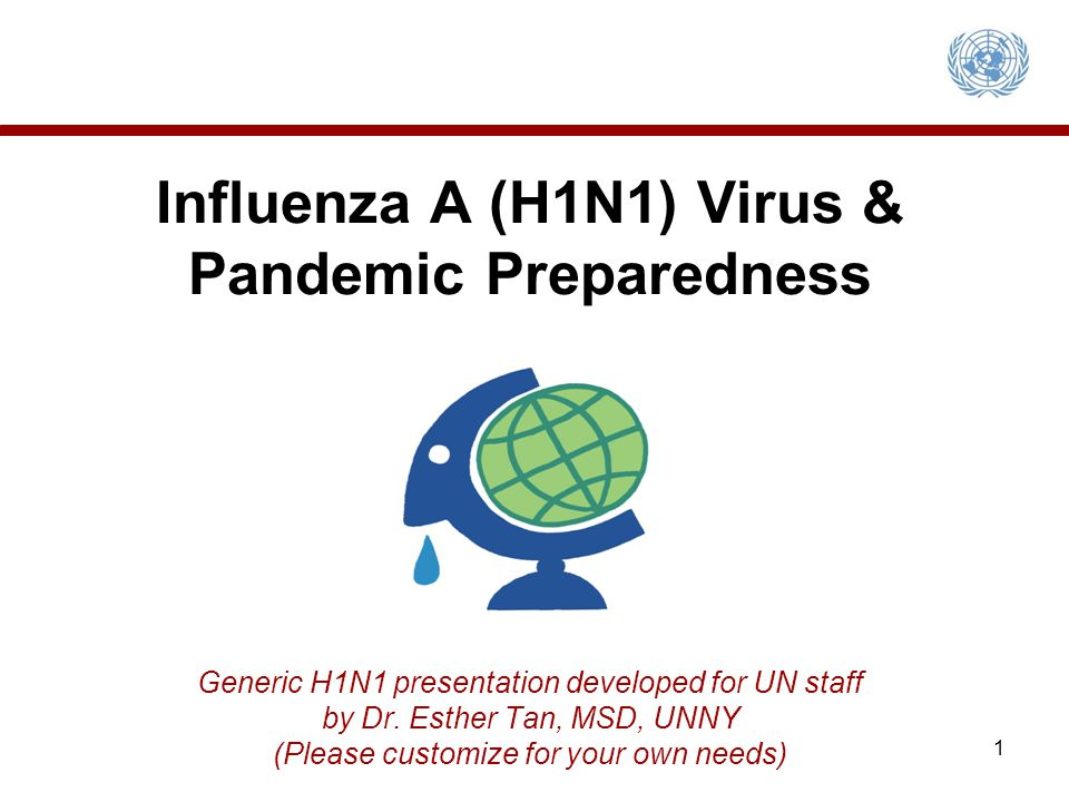 Influenza A (H1N1) Virus & Pandemic Preparedness Generic H1N1 presentation developed for UN staff by Dr.