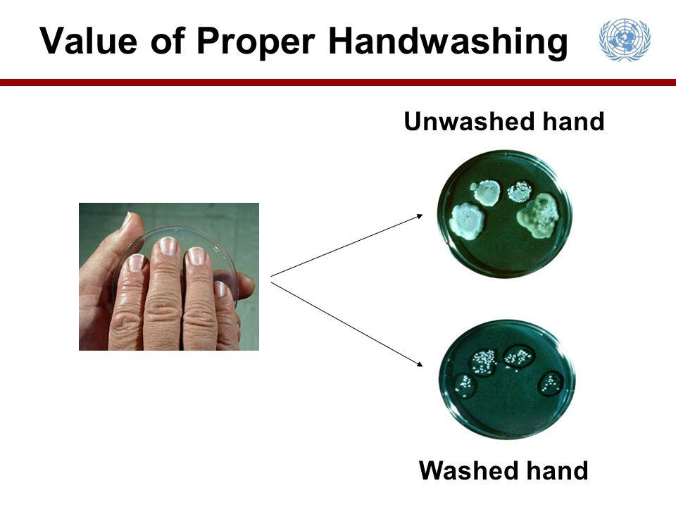 Value of Proper Handwashing