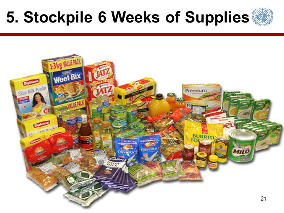 5. Stockpile 6 Weeks of Supplies