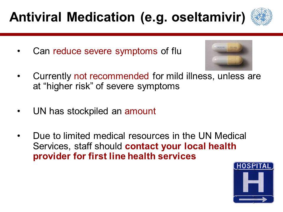 Antiviral Medication (e.g. oseltamivir)