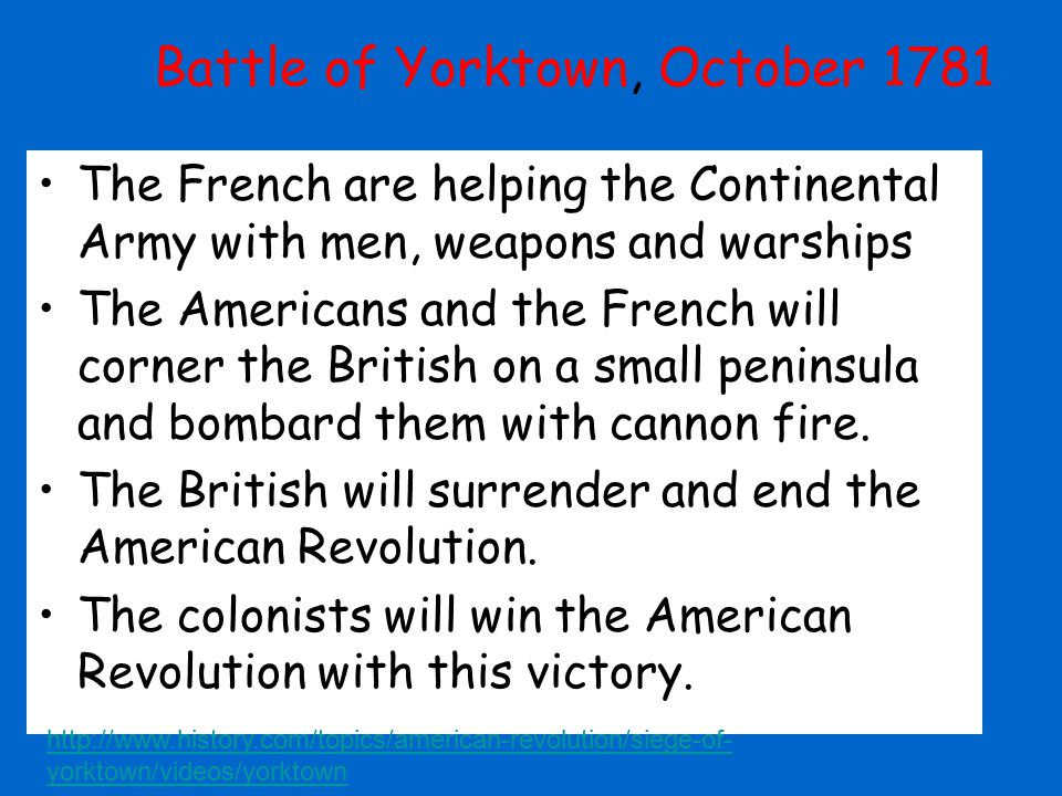 Battle of Yorktown, October 1781