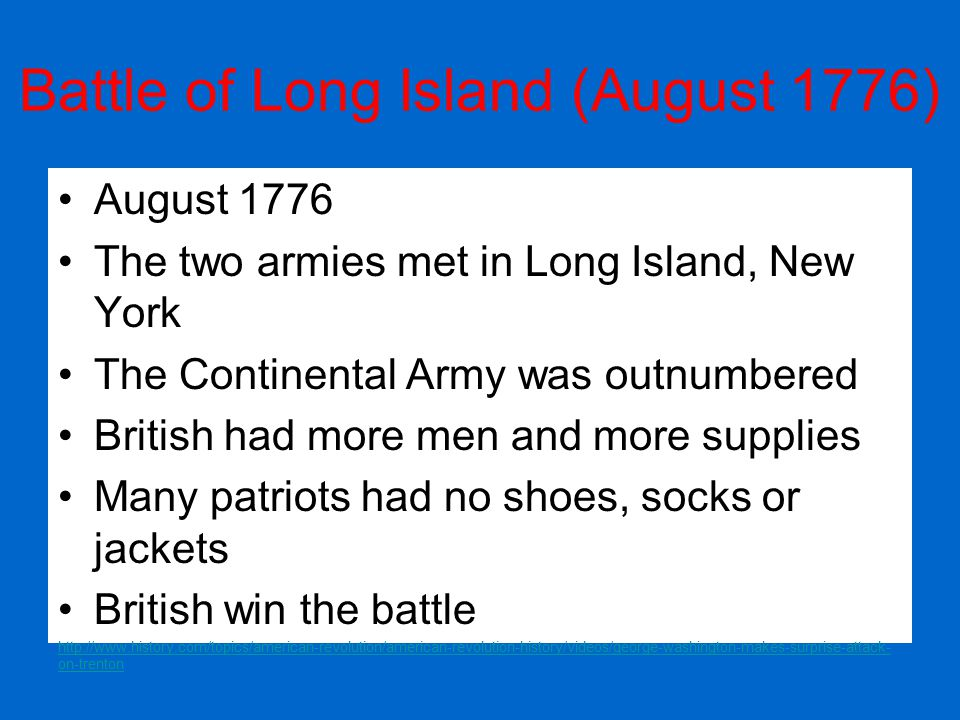 Battle of Long Island (August 1776)