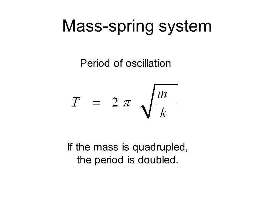 If the mass is quadrupled,