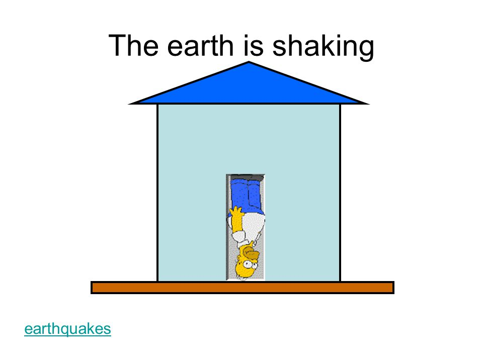 The earth is shaking earthquakes