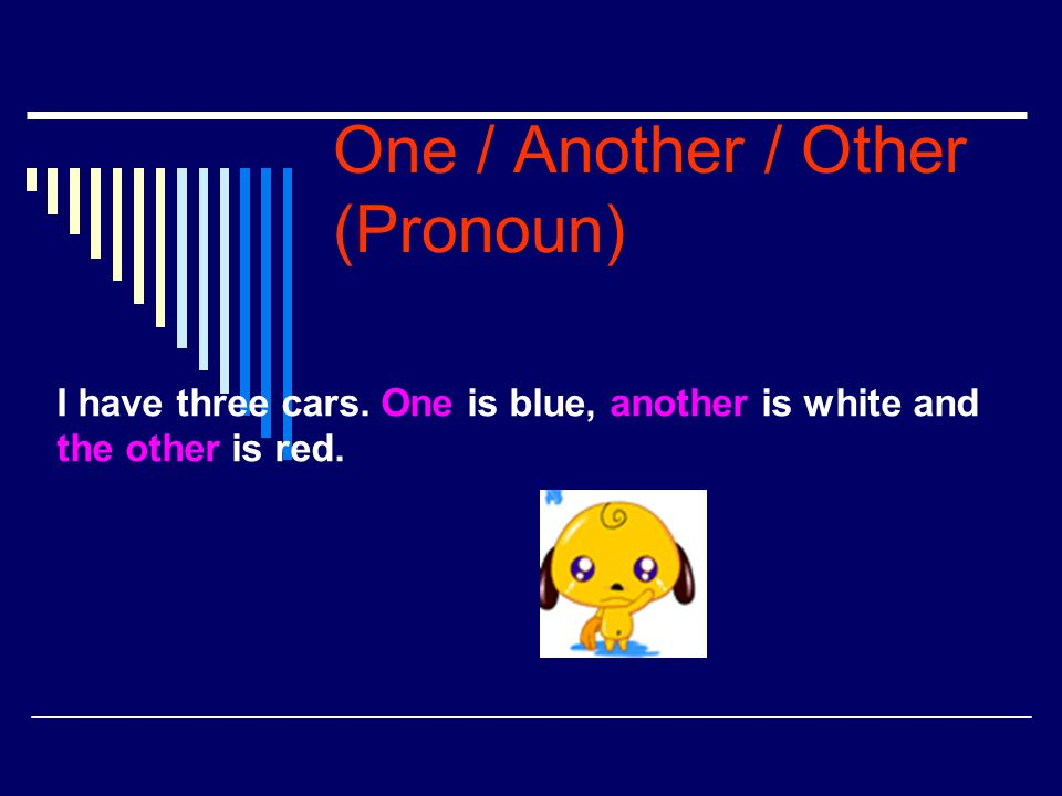 One / Another / Other (Pronoun)