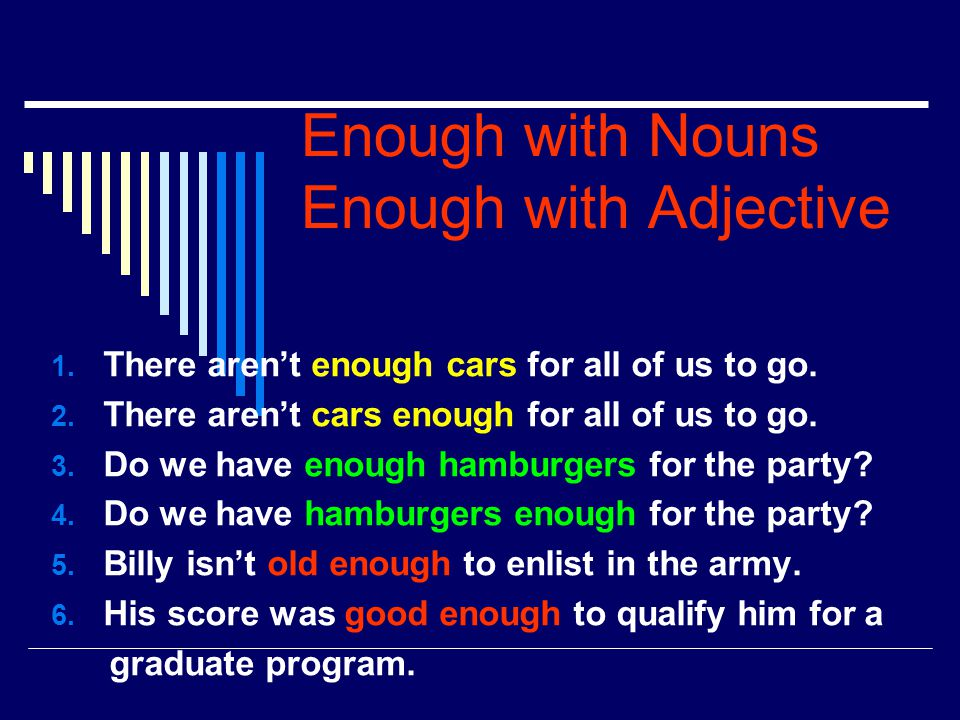 Enough with Nouns Enough with Adjective