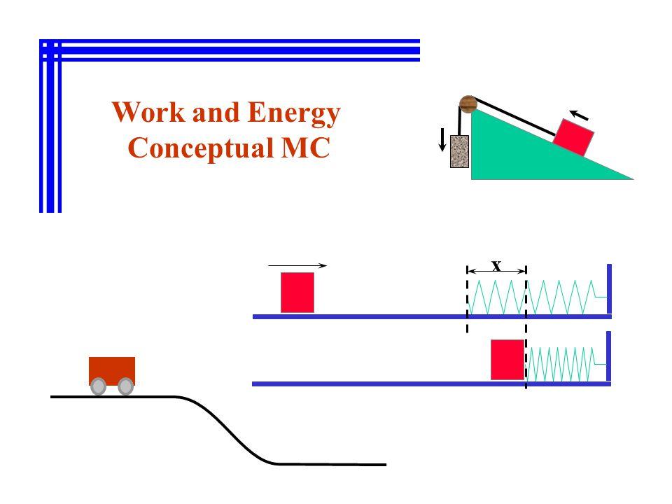 Work and Energy Conceptual MC