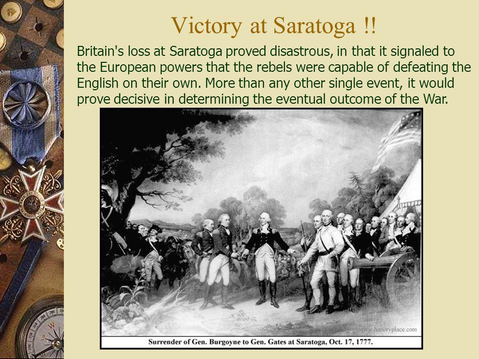 Victory at Saratoga !!