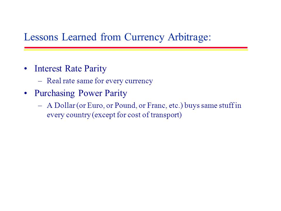 Lessons Learned from Currency Arbitrage: