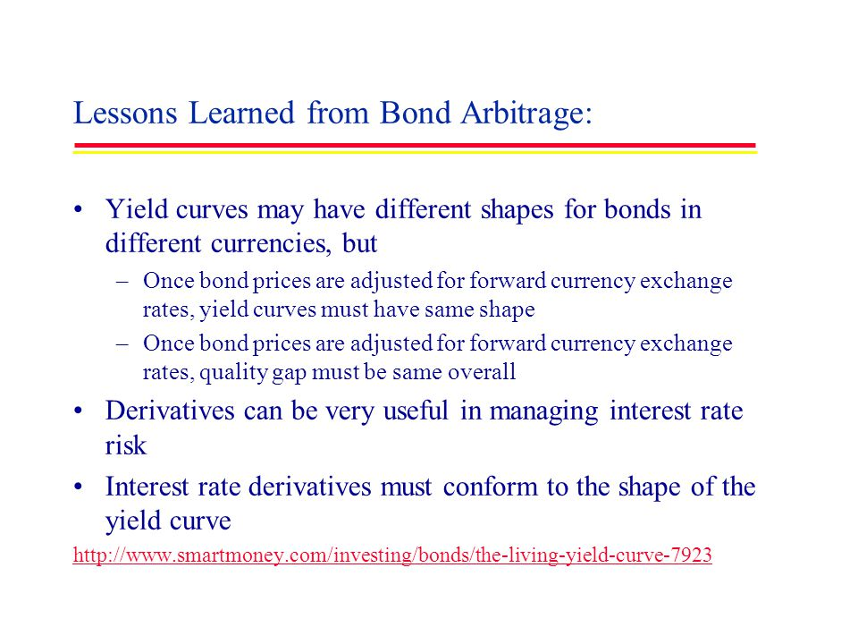 Lessons Learned from Bond Arbitrage: