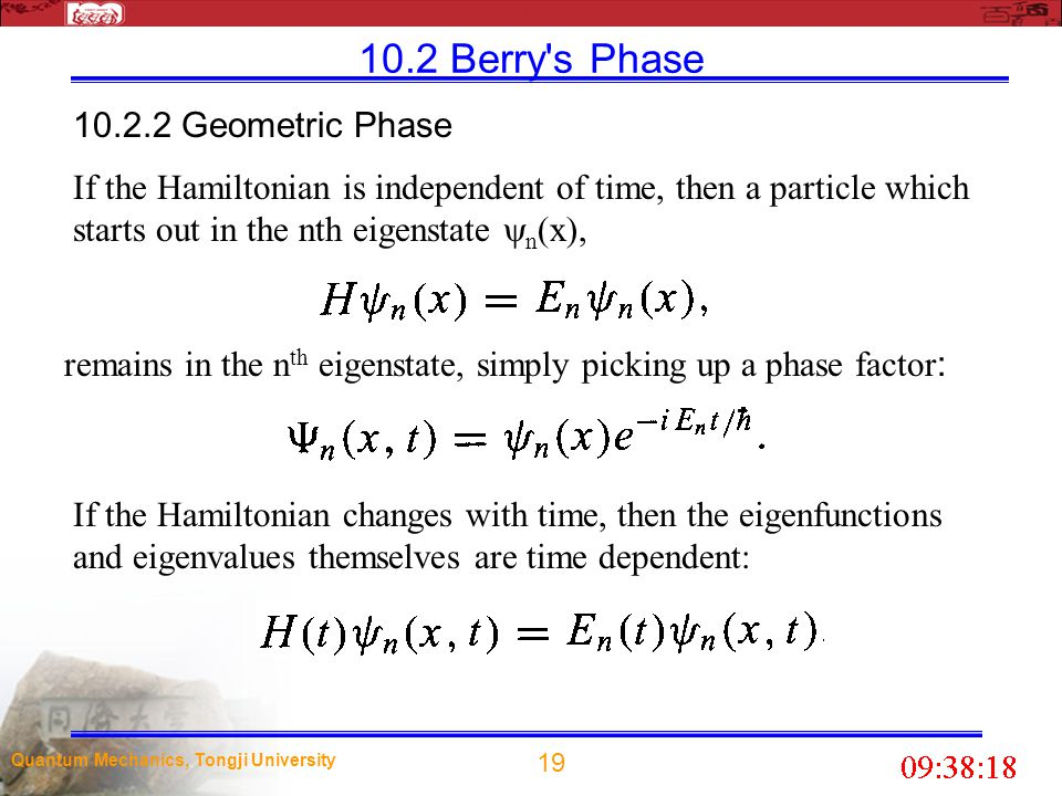 10.2 Berry s Phase 10.2.2 Geometric Phase