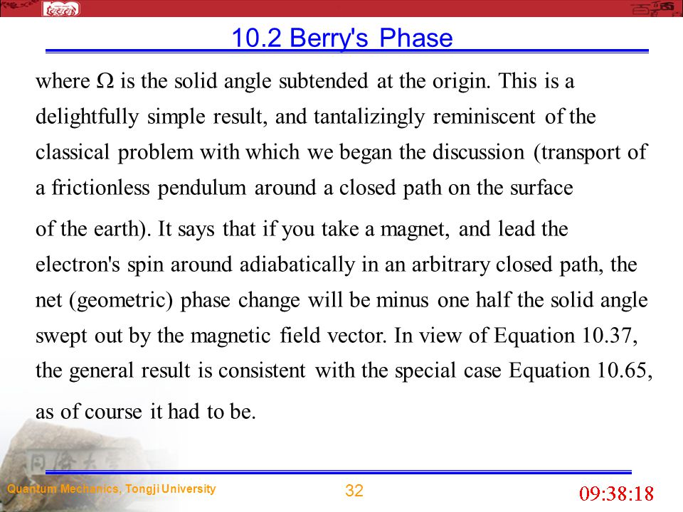 10.2 Berry s Phase
