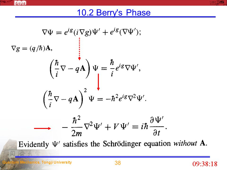 10.2 Berry s Phase Quantum Mechanics, Tongji University