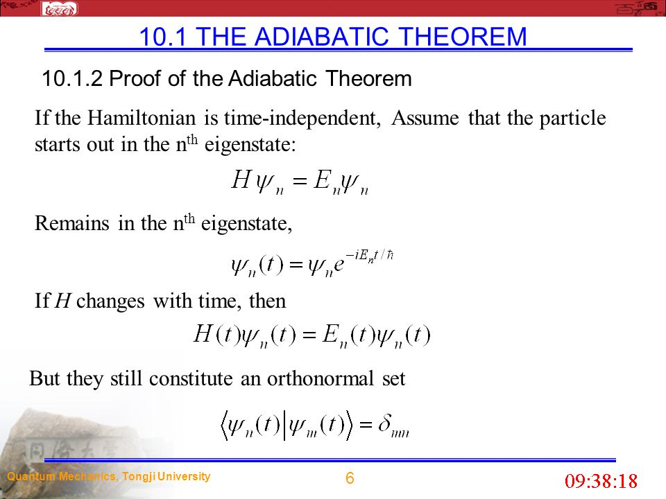 10.1.2 Proof of the Adiabatic Theorem