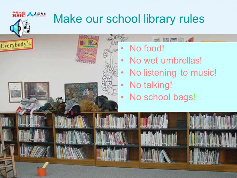 Make our school library rules