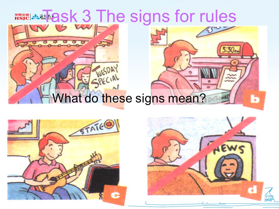 Task 3 The signs for rules