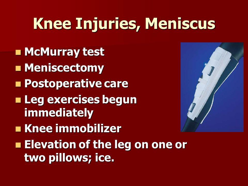 Knee Injuries, Meniscus