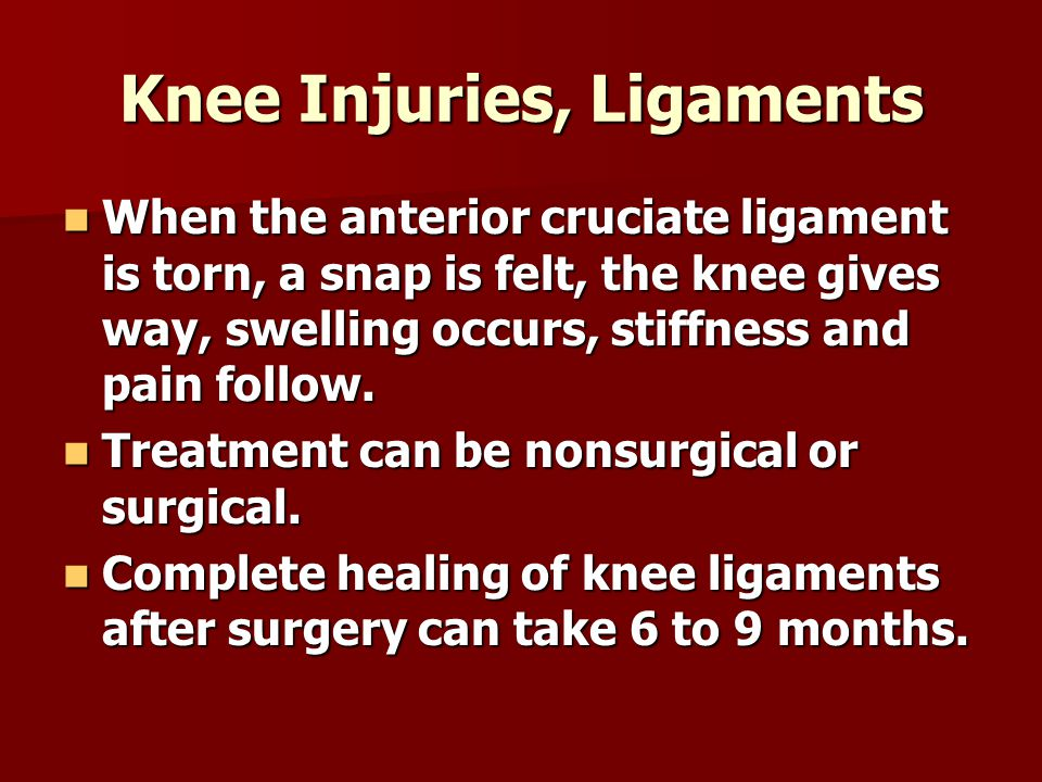 Knee Injuries, Ligaments