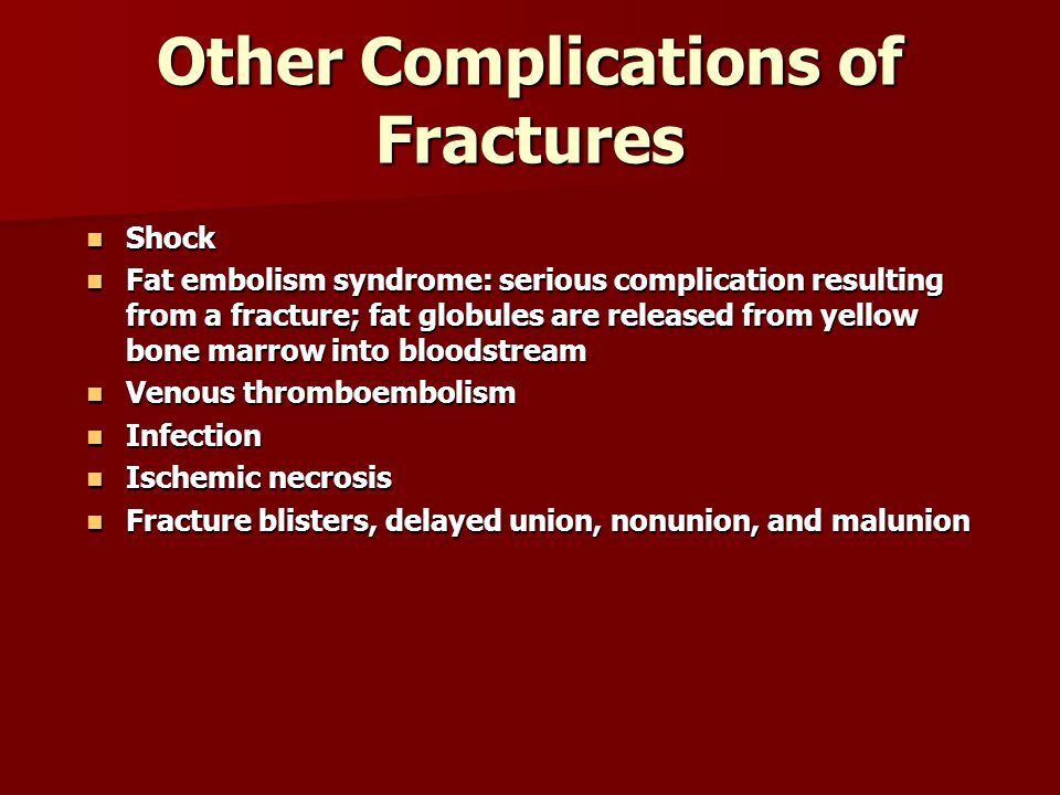 Other Complications of Fractures