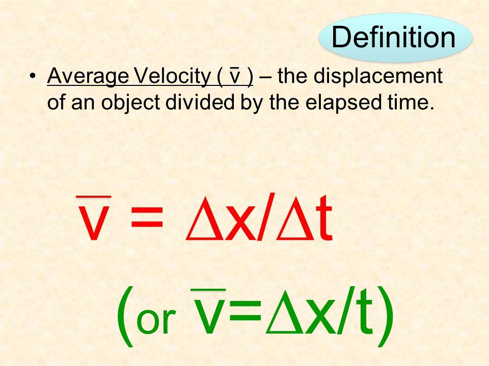 (or v=Dx/t) Definition