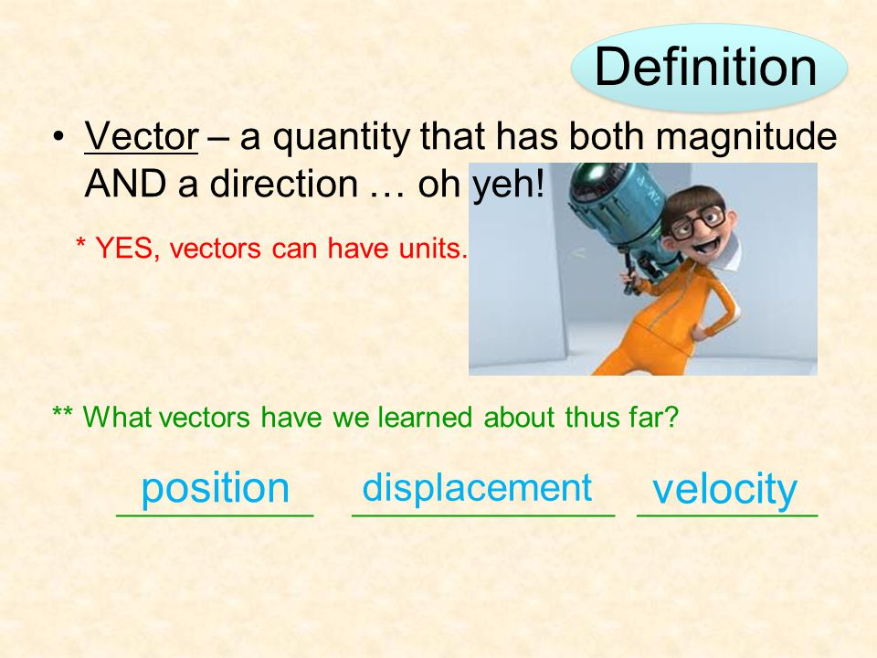 Definition position velocity