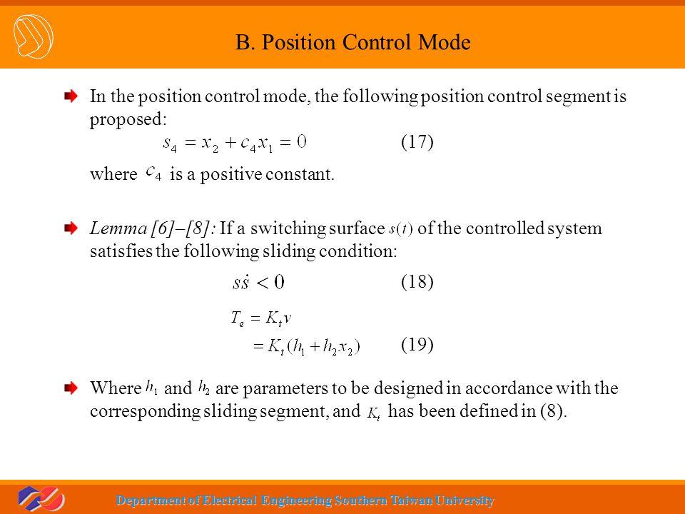 B. Position Control Mode
