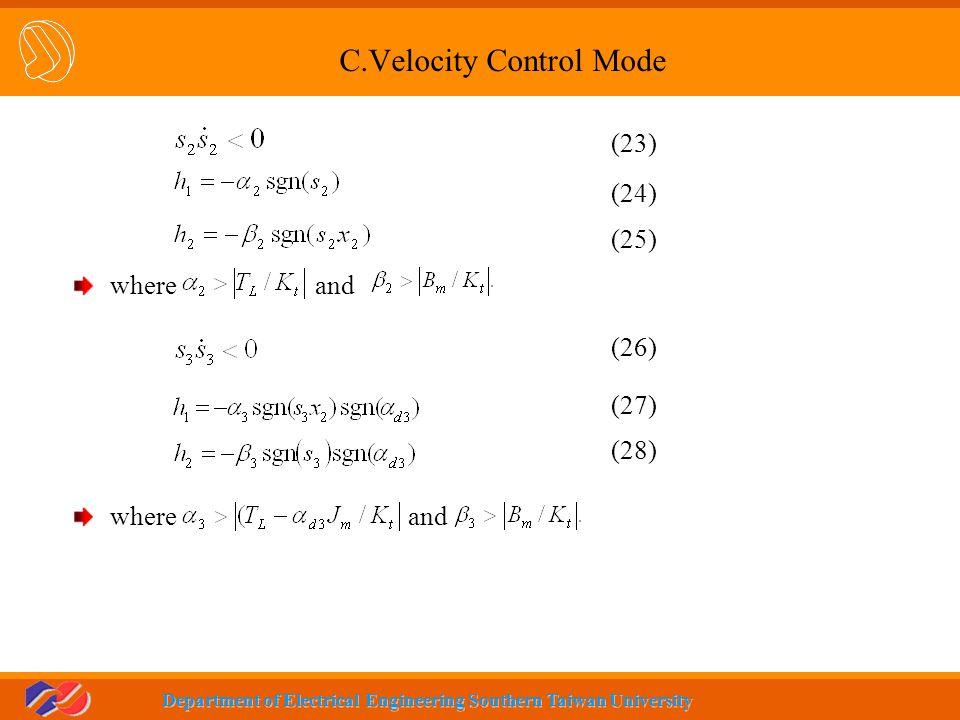 C.Velocity Control Mode