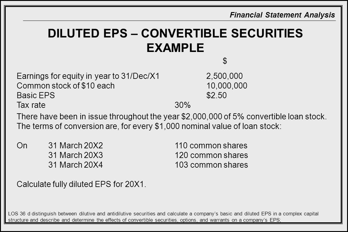 DILUTED EPS – CONVERTIBLE SECURITIES