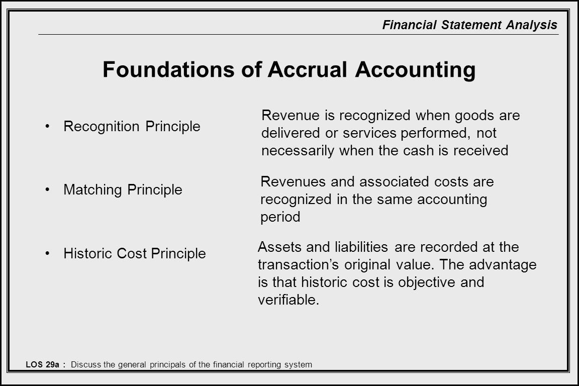Foundations of Accrual Accounting