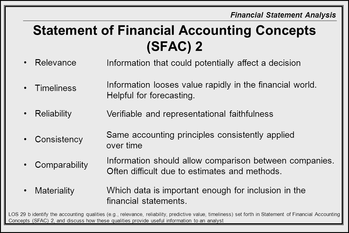 Statement of Financial Accounting Concepts (SFAC) 2