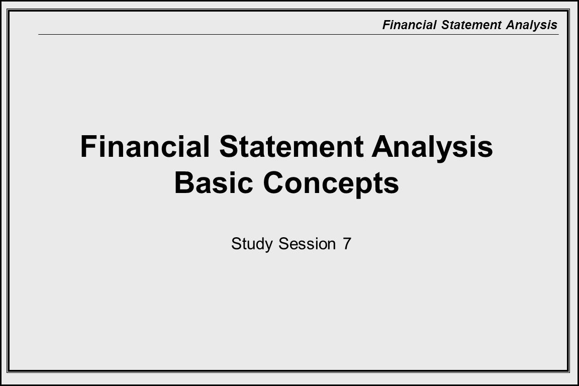 Financial Statement Analysis Basic Concepts
