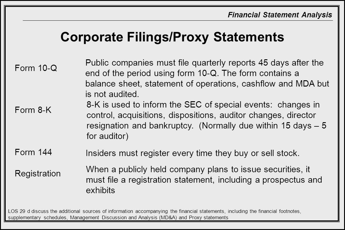 Corporate Filings/Proxy Statements