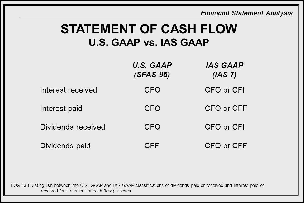 STATEMENT OF CASH FLOW U.S. GAAP vs. IAS GAAP U.S. GAAP (SFAS 95)