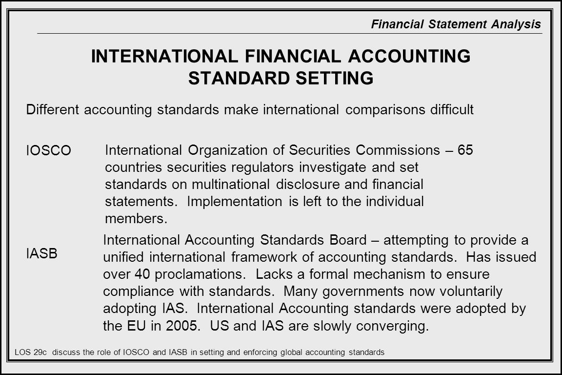 intrnational financial accounting standards On december 31, 1920, the international accounting standards foundation (iasf) was incorporated as a tax-exempt organization in the us state of delaware on february 6, 2001, the international financial reporting standards foundation was also incorporated as a tax-exempt organization in delaware.