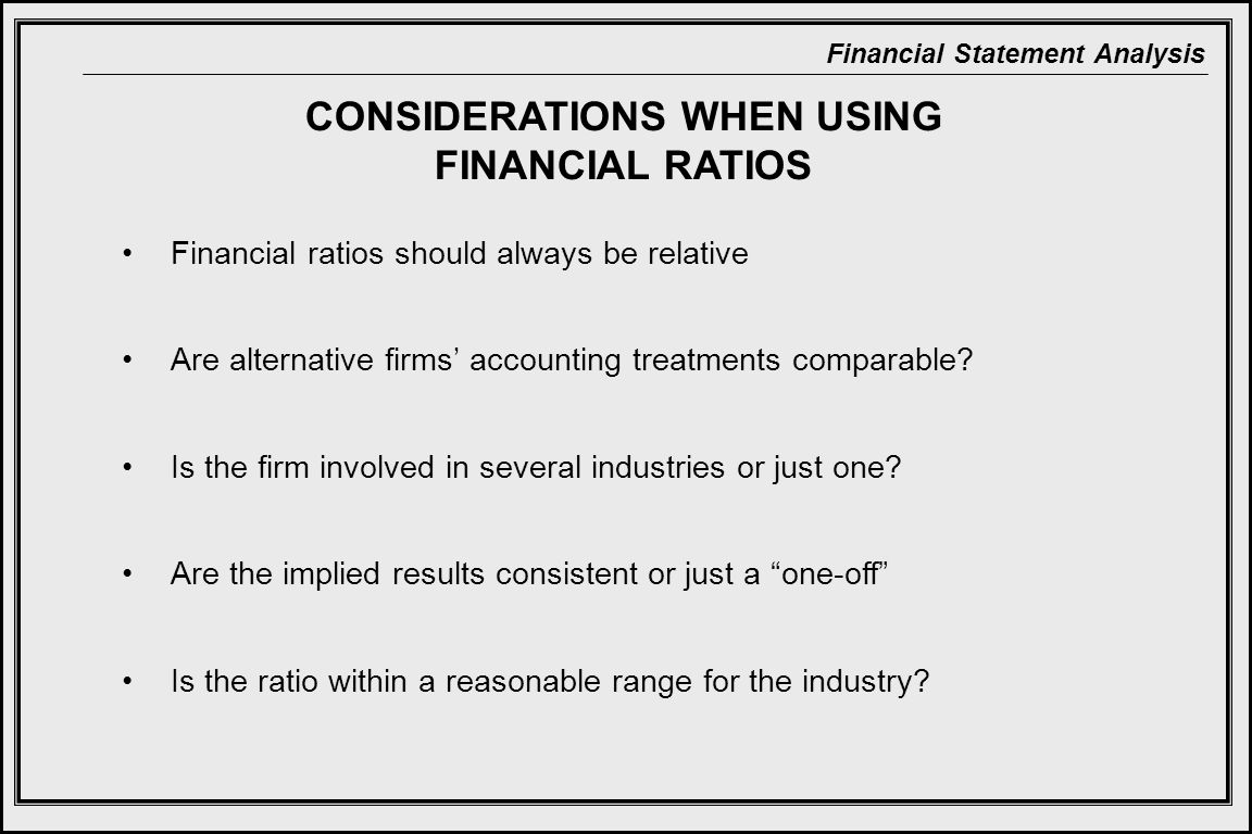CONSIDERATIONS WHEN USING