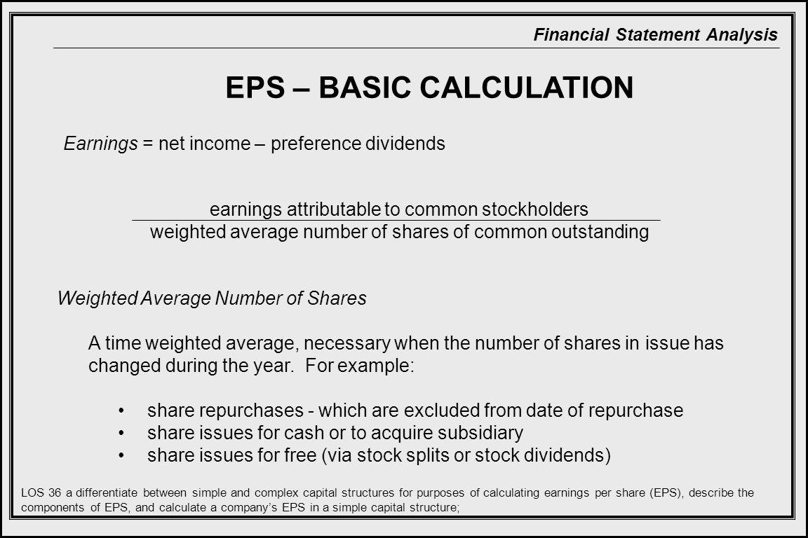 EPS – BASIC CALCULATION