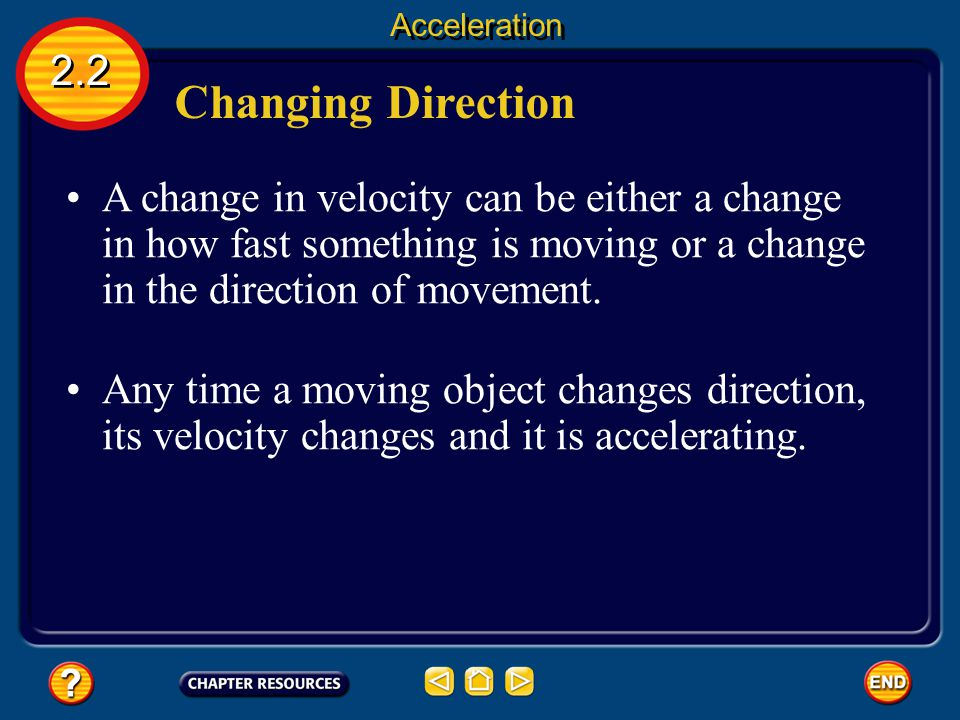 Acceleration 2.2. Changing Direction.