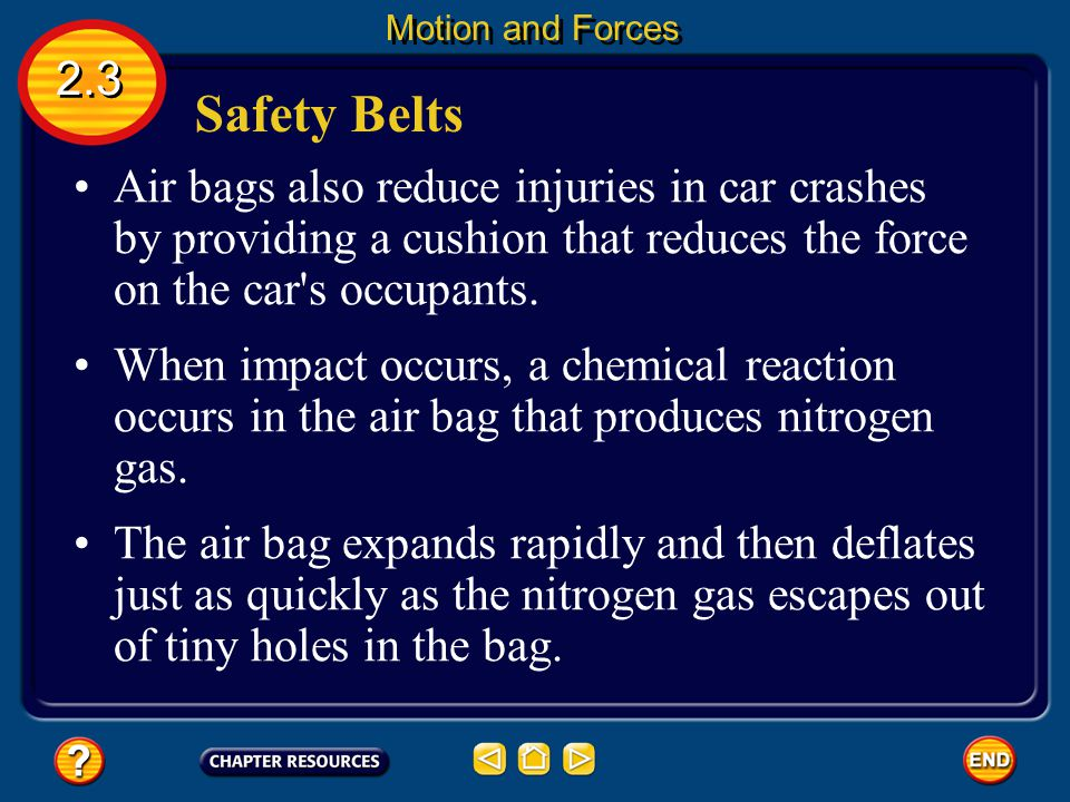 Motion and Forces 2.3. Safety Belts.