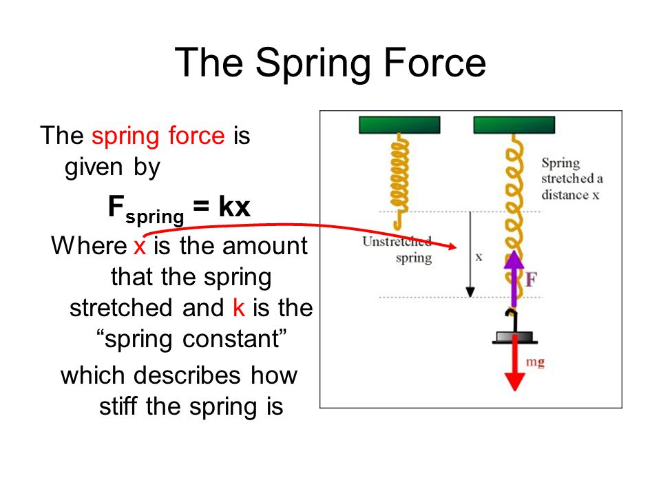which describes how stiff the spring is