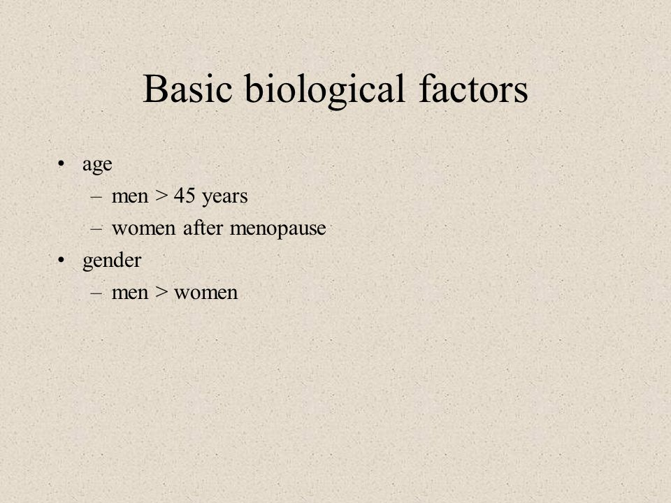 Basic biological factors