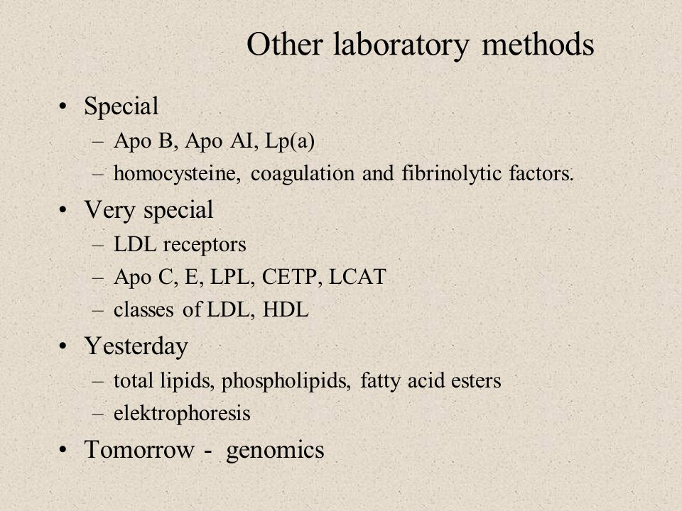 Other laboratory methods