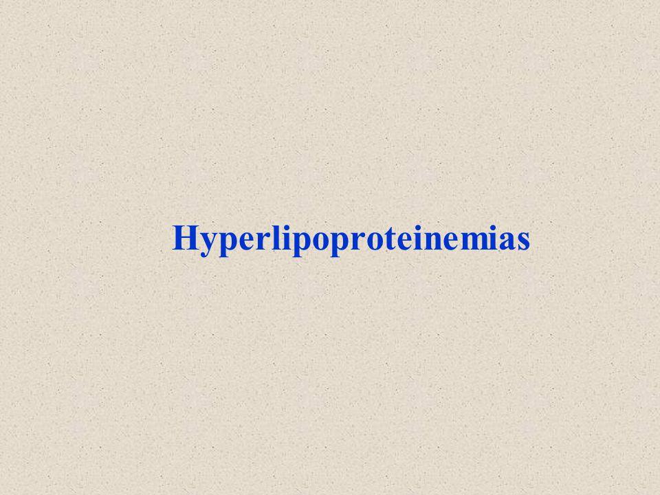 Hyperlipoproteinemias