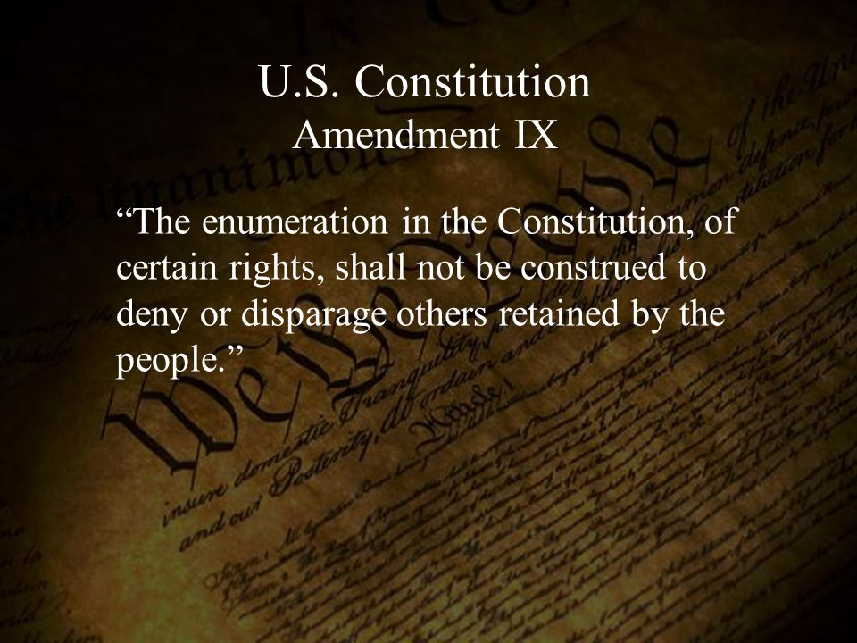 U.S. Constitution Amendment IX