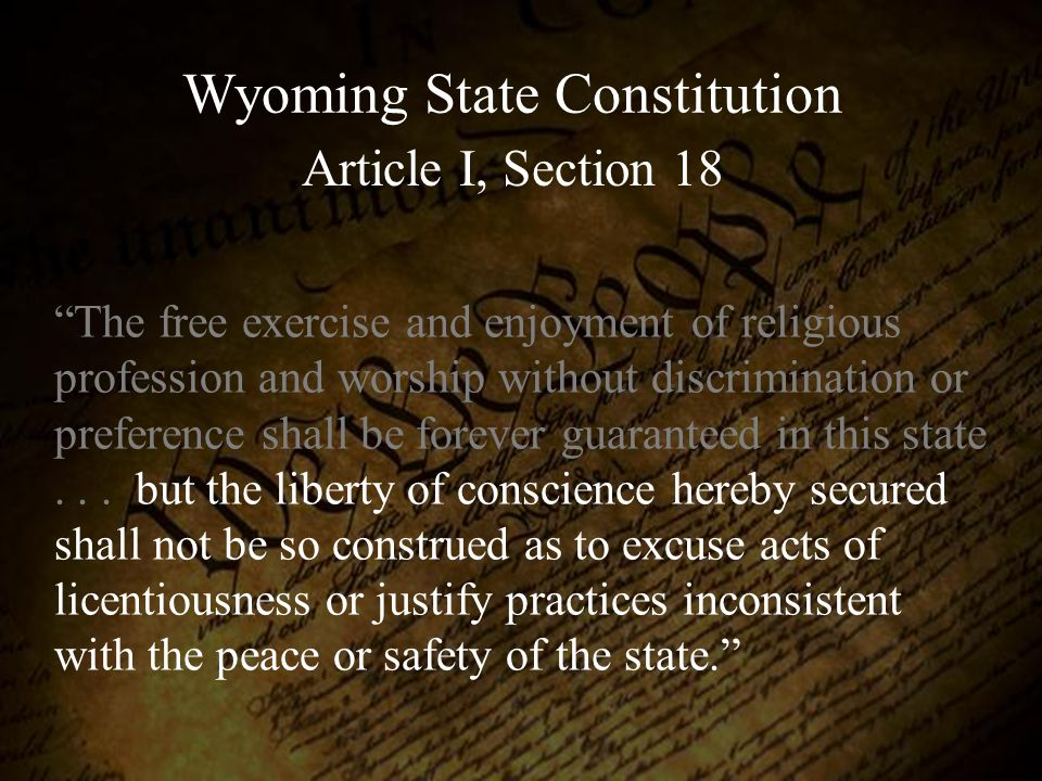 Wyoming State Constitution