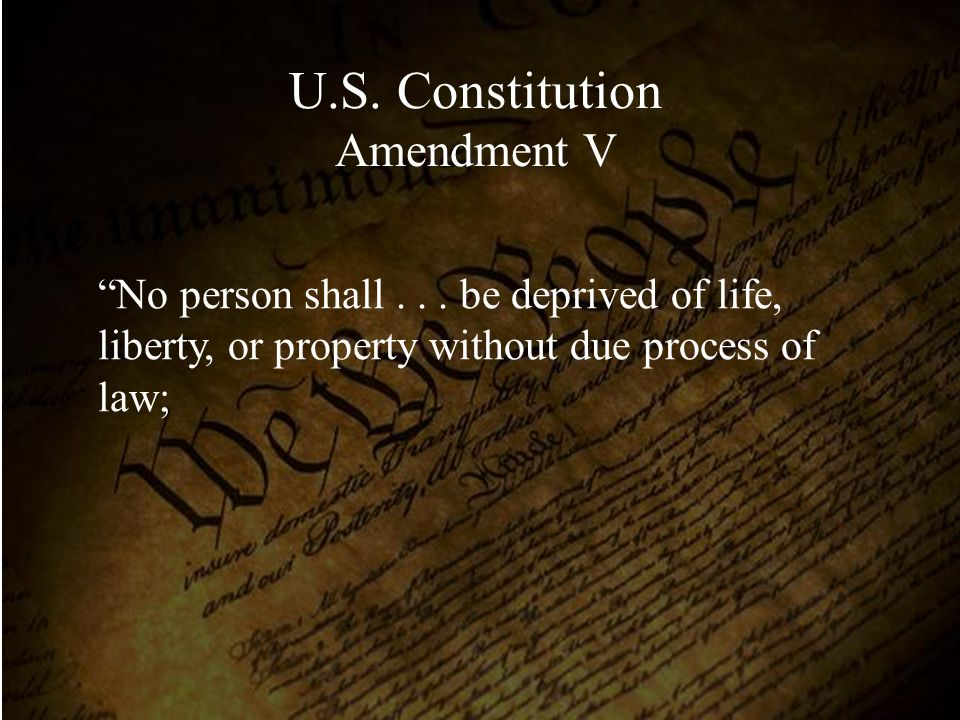 U.S. Constitution Amendment V
