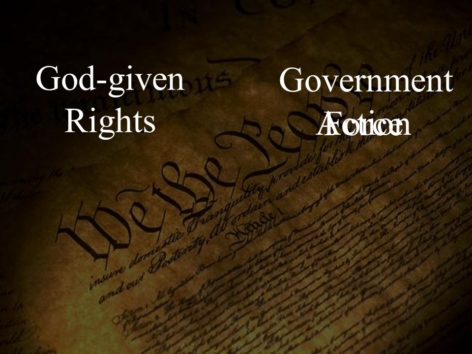 God-given Rights Government Action Force