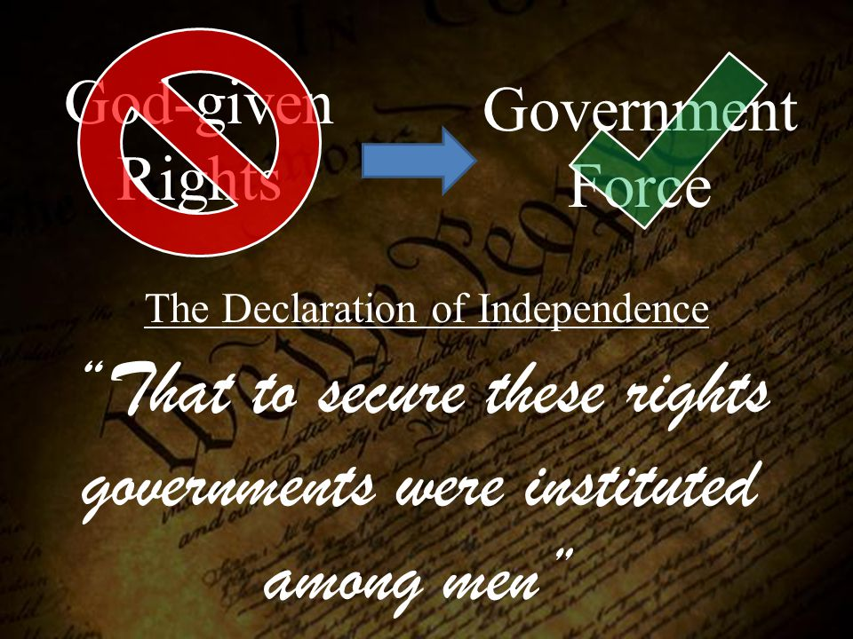 That to secure these rights governments were instituted among men