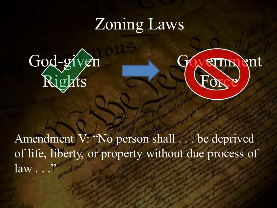 Zoning Laws God-given Rights Government Force